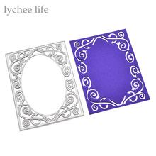 Lychee Ellipse Oval Square Metal Cutting Dies Stencils DIY Scrapbooking Decorative Embossing Paper Cards Die Cutting Template