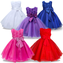 flower girl dresses for wedding pageant first holy lace communion dress for girls toddler junior Party girl dress 12 years(China)
