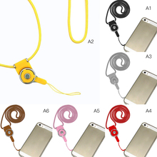 1 x Detachable Cell Phone Mobile Camera Neck Lanyard Strap with Key Ring Holder Phone Straps P25(China)