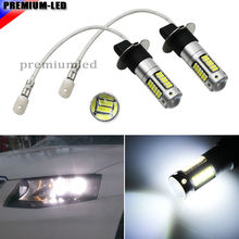 2pcs High Power  Xenon White 30-SMD 4014 H3 LED Replacement Bulbs For Car Fog Lights, Daytime Running Lights, DRL Lamps