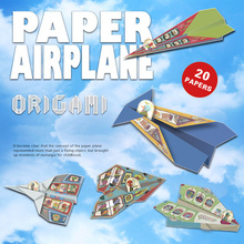 Classic childhood origami toy Fold N Fly Paper Airplanes Kit 20 unique paper airplanes educational DIY plane model kids gift