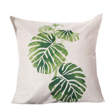 ISHOWTIDENDA   Pastoral Style Square Pillow Cover Cushion Case Toss Pillowcase Hidden Zipper Closure