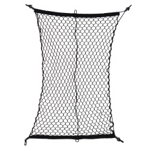 New Arrival Car Cargo Net Luggage Holder Trunk Interior Mesh Net Storage Bag Tidying With 4 Hooks Black 100 * 70cm Drop shiping(China)