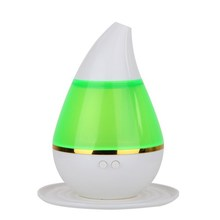 Portable Mini USB  Ultrasonic Air Purifier Aroma Diffuser for Home Office Car Air Purifier Freshener Green