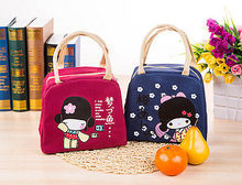 Waterproof Cooler Insulated Lunch Box Portable Thermal Tote Cartoon Storage Bag Cute Kids Picnic Bag