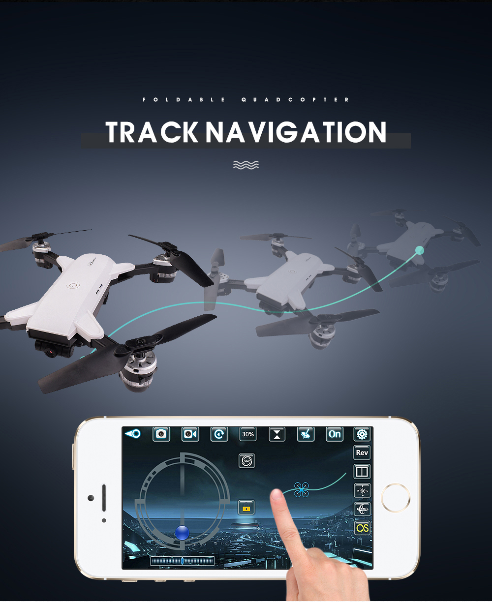 7.New 2.4Ghz 4ch foldable FPV rc drone with 2MP wide angle wifi camera