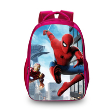 BAOBEIKU 3D Backpacks Fashion Print Spider-Man Bags For Childrens School Laptop Animal Kids Backpack Dropshipping