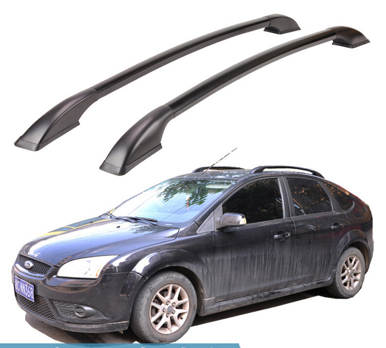 For Ford Focus hatchback Roof Rack Rails Bar Luggage Carrier Bars top Racks Rail Boxes Aluminum alloy 3M Paste<br><br>Aliexpress