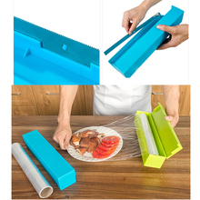 Kitchen Gadgets Foil & Cling Film Wrap Dispenser Cutter Film Cutter Kitchen Accessories Cooking Tools Vegetable Roll Bag Cutter(China)