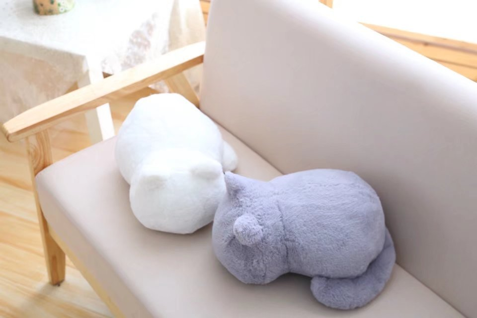 1pcs Cute Soft Cat Stuffed Pillow Lovely Kawaii Animal Plush Shadow Cat Plush Toy For Kids Gift Home Decoration (8)