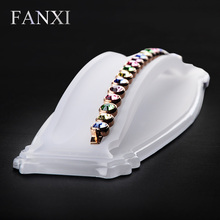 FANXI Free shipping custom matte acrylic jewellery exhibitor holder for shop and trade show display bracelet presentor stand