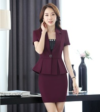 Summer Formal Blazer Women Business Suits with Skirt an Jacket Sets Office Ladies Work Wear Uniforms OL Style