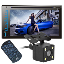 "6.2"" HD Capacitive Touch Screen Car Bluetooth Stereo DVD Player CD/MP3/FM/AM/USB/SD/AUX-IN 2 Din Receiver MP4 MP5 Player"