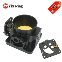 VR RACING - FREE SHIPPING 75MM BLACK BILLET CNC THROTTLE BODY FOR 86-93 FORD MUSTANG GT COBRA LX 5.0 VE6958BK