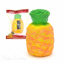 Cute Pineapple Squishy Slow Rising Jumbo Fruit Phone Straps Original Pendant Charms Scented Bread Cake Fun Kid Toy Gift