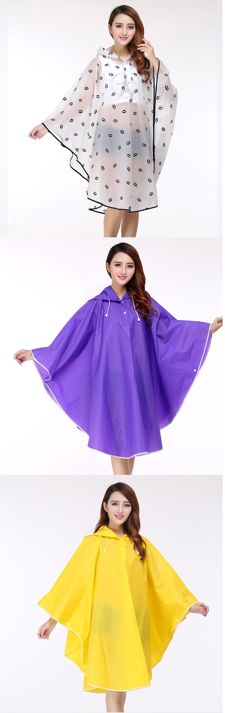 Women Transparent Portable Long Raincoats 24
