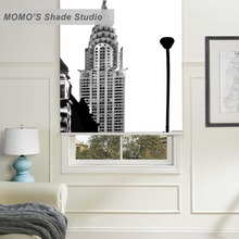 MOMO Thermal Insulated Blackout Fabric Custom Scenic Window Curtains Roller Shades Blinds,PRB set209-213
