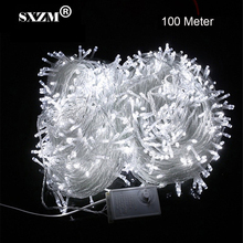 SXZM 10M 20M 30M 50M 100M LED string Fairy light holiday decoration AC220V 110V Waterproof outdoor light with controller(China)