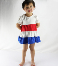2016 Kids Clothes Ropa Mujer Wennikids New Girl Dress 4th July Baby Girls Boutique Patriotic Day Toddler Summer Clothing