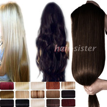27 inches Straight 100% Real Thick 200g Full Head Clip in Hair Extensions Extentions One Piece 5Clips on for human as remy style