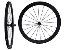 WS-CW015   :  25mm width - Carbon Matt Cycling Road Bike Clincher Wheelset 50mm 700C Bicycle Wheel Rim Basalt Brake Side