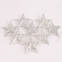 8 Pcs/Lot Christmas Tree Decorations Stars Christmas Decorations for Tree Xmas Noel Ornaments For Home Gold Silver Gift New year