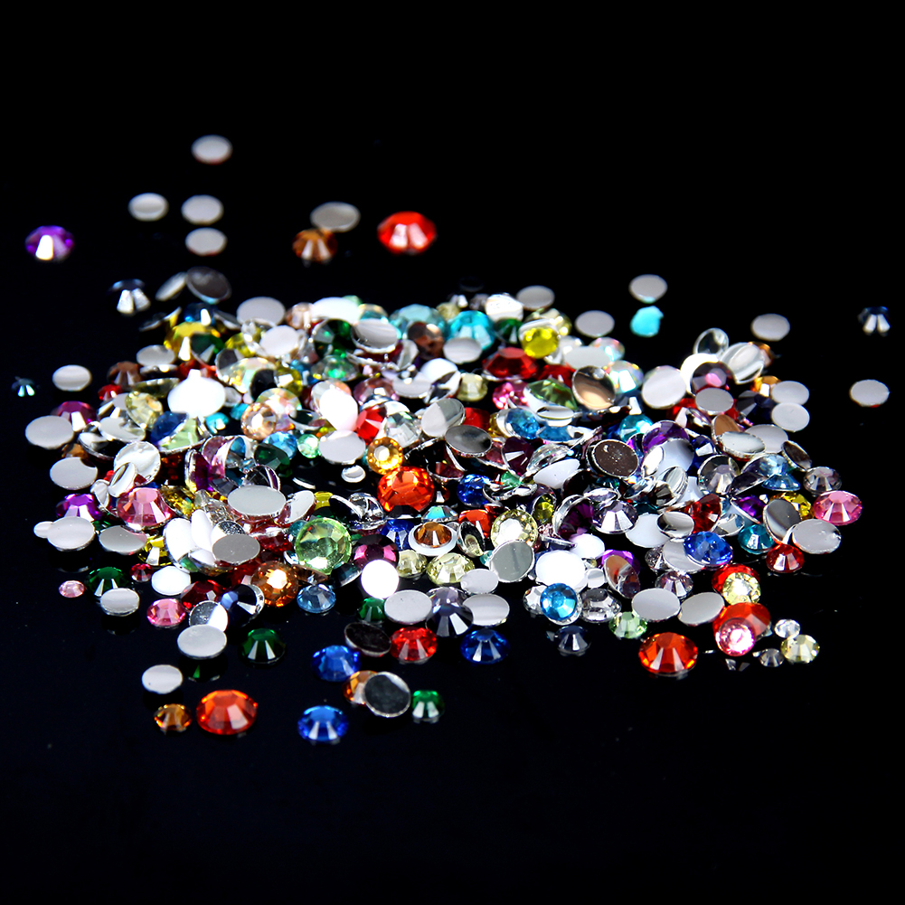 Beads & Jewellelry Making Supplies Other Gemstone Craft Beads Coral Rose AB 1000pcs Rhinestone Beads Flat Back Nail Art Craft Gems