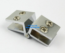 4 Pieces Glass To Glass Hinge 180 Degree Out Swing Cabinet Showcase Glass Clamp(China)
