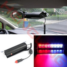 2017 New 12V 8 Led Police Light Red Blue Amber White Vehicle visor dashboard Emergency Warning Strobe Light