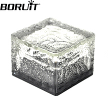Boruit RGB LED Solar Powered Landscape Lamp Waterproof Outdoor Floor Light For Garden Yard Lawn Path Lighting(China)