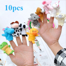 10 Pieces  Finger Puppet  Plush Toys Stuffed Animals lovely Cartoon Animal Child Baby Favor Dolls YZT0261