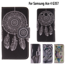 Wallet Case for fundas Samsung Galaxy Ace 4 Ace4 G357 G357FZ Cover Case for coque Samsung Ace 4 Style LTE G357 SM-G357FZ Case(China)