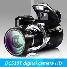 HOT SALE DC510T digital camera HD camera zoom lens wide-angle lens Free Shipping