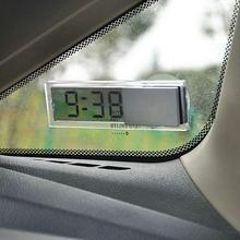Hot Car Ornaments Durable Digital LCD Display Car Electronic Clock With Sucker Cool Free Shipping #EA10431(China)