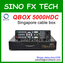 QBOX 5000HDC Singapore cable tv receiver hd starhub channels tv box 5000HDC updated from qbox 4000hdc supports Nagra3