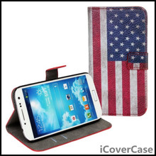 Wallet Case Cover For Samsung Galaxy S4 Mini i9190 S4mini UK USA Flag Leather Mobile Phone Cases Bags Etui Capinhas Coque Funda(China)