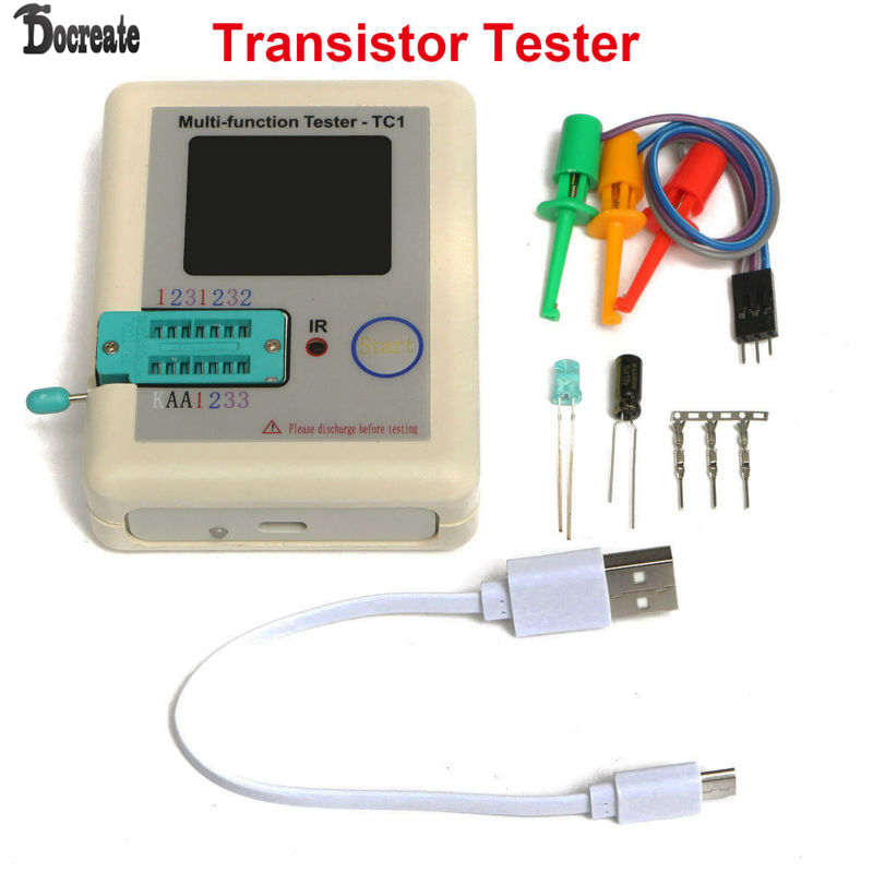 Transistor Tester TFT Diode Triode Capacitance Meter LCR ESR NPN PNP MOSFET LCR-TC1 3.5inch TFT muiltmeter <br>