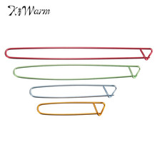 Modern 4Pcs Aluminum Knitting Needles Clip Craft Knitting Stitch Holders Safety Pins Crochet Hooks Locking Weaving Sewing Tools