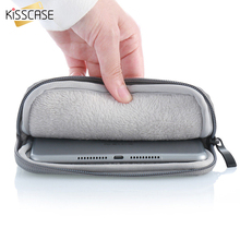 KISSCASE Tablet Sleeve Pouch Case For iPad Air 2 1 iPad 2 3 4 Pro 9.7 inch Inner Soft Furry Zipper Bag Protective Laptop Sleeve(China)