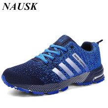 High Quality men breathable casual shoes femme fashion mens mesh trainers designer laces up male shoes zapatillas size 35-46