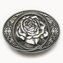 Distribute Belt Buckle Original Western Rose Flower Belt Buckle Free Shipping 6pcs Per Lot Mix Style is Ok