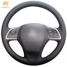 MEWANT Black Artificial Leather Car Steering Wheel Cover for Mitsubishi Outlander 2013 2014 Mirage 2014 ASX L200 2015 2016