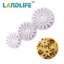 Landlife Cookie Moulds DIY Stainless Steel Daisy Flower Fondant Cake Cookie Cutter Mold Biscuit Pastry Mould Tool(China)