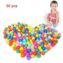 50 pcs/lot Eco-Friendly Colorful Soft Plastic Water Pool Ocean Wave Ball Baby Funny Toys Stress Air Ball Outdoor Fun Sports(China)