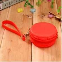 2016 Top Limited Macarons Silicone Purse Dream Color For Headset Bag Coin Wholesale And Retail Free Shipping G006 Zipper