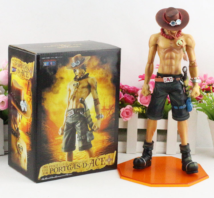 Anime One Piece Toy Figure Fire Fist Ace - Portgas D Ace PVC Action Figures Collection Model Toys Gift 26CM kunai<br>