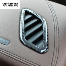 High quality Carbon fibre For Mercedes Benz GLA /CLA / A Class front air outlet the air conditioner sequin accessories Dashboard