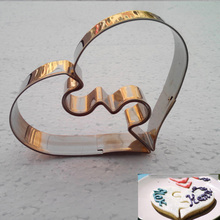 1 Piece Christmas Kitchen Loving Heart Shaped Aluminium Tools Alloy Pastry Biscuit Cookie Cutter Baking Mould Free Shipping