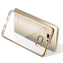 Clear Coque Plating TPU Case For Samsung Galaxy S6 S7 Edge Plus S8 S8 plus Silicon Phone Cover For Samsung Note 5 Soft TPU Case