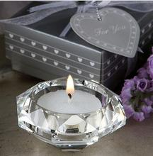 Wedding Candle Favors Crystal  Glass Diamond Shape Heart shape Tealight Candle Holder Bridal Shower Party Favors gift festive